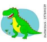 green the dinosaur...   Shutterstock . vector #197644139