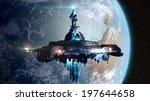 alien mothership near earth ... | Shutterstock . vector #197644658