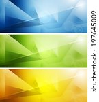 tech shiny banners. vector... | Shutterstock .eps vector #197645009