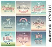 travel set   labels and emblems. | Shutterstock .eps vector #197645564
