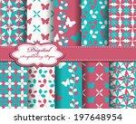 set of vector flower abstract... | Shutterstock .eps vector #197648954