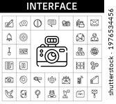 interface icon set. line icon...