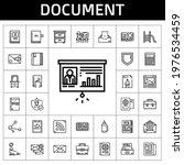 document icon set. line icon...