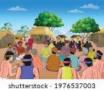 indian rural village  gathering ...   Shutterstock .eps vector #1976537003