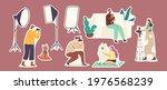 set of stickers studio pets... | Shutterstock .eps vector #1976568239
