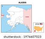 alaska map. state and district... | Shutterstock .eps vector #1976607023
