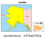 alaska map. state and district... | Shutterstock .eps vector #1976607026