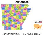 arkansas map. state and... | Shutterstock .eps vector #1976611019