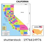 california map. state and... | Shutterstock .eps vector #1976614976
