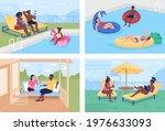budget friendly summer retreats ...   Shutterstock .eps vector #1976633093