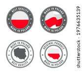 made in poland   set of labels  ... | Shutterstock .eps vector #1976635139