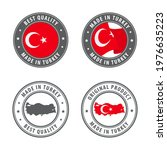 made in turkey   set of labels  ... | Shutterstock .eps vector #1976635223