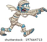 cartoon mummy. vector clip art... | Shutterstock .eps vector #197664713