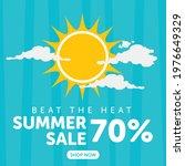 beat the heat summer sale... | Shutterstock .eps vector #1976649329