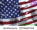 usa flag  watercolor flag  ... | Shutterstock .eps vector #1976665766