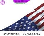 usa flag  watercolor flag  ... | Shutterstock .eps vector #1976665769