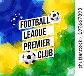 soccer football poster. mosaic... | Shutterstock .eps vector #197667893