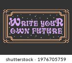 write your own future mystical... | Shutterstock .eps vector #1976705759