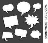 speech balloons | Shutterstock .eps vector #197672096