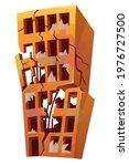 destroyed building after...   Shutterstock .eps vector #1976727500