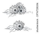hand drawn sunflower.  flowers... | Shutterstock .eps vector #1976728106