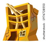 destroyed building after...   Shutterstock .eps vector #1976728553