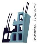 destroyed building after...   Shutterstock .eps vector #1976730740
