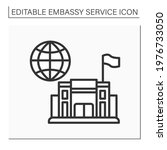 consulate line icon. office or...   Shutterstock .eps vector #1976733050