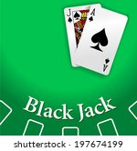 black jack and ace of spades... | Shutterstock .eps vector #197674199