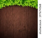 natural background with wooden... | Shutterstock .eps vector #197674568