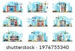 a set of buildings under... | Shutterstock .eps vector #1976755340