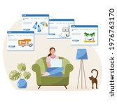 vector illustration people book ...   Shutterstock .eps vector #1976763170