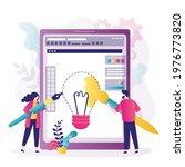 team of designers draws on big... | Shutterstock .eps vector #1976773820
