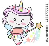cute sweet magic princess... | Shutterstock .eps vector #1976777186