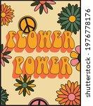 70s retro groovy flower power...   Shutterstock .eps vector #1976778176