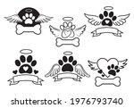 set of logo pet memory....   Shutterstock .eps vector #1976793740