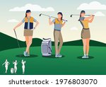Golf Playing. Young Golfer...