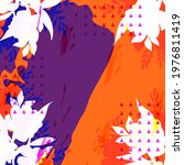 design for silk scarf  shawl ...   Shutterstock .eps vector #1976811419