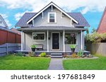 small old house with entrance... | Shutterstock . vector #197681849