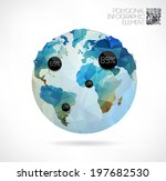 vector world globe  3d... | Shutterstock .eps vector #197682530
