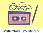 cassette tape vintage retro...   Shutterstock .eps vector #1976833970