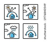 icon protect building or house... | Shutterstock .eps vector #1976840549