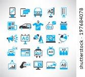 advertising icons set ... | Shutterstock .eps vector #197684078