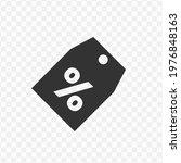 transparent discount label icon ...