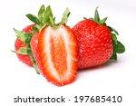 beautiful ripe strawberry on... | Shutterstock . vector #197685410