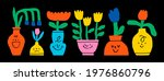 abstract plants. simple... | Shutterstock .eps vector #1976860796