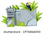 jungle stone sign board  vector ...