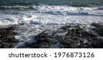 Waves Crashing On Rocks  Rugged ...