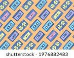 vintage cassette tape set...   Shutterstock .eps vector #1976882483