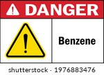 danger sign benzene. hazardous... | Shutterstock .eps vector #1976883476